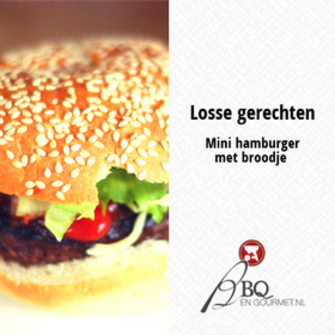 Mini hamburger met broodje