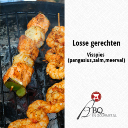 BBQ Garnalenspies gemarineerd