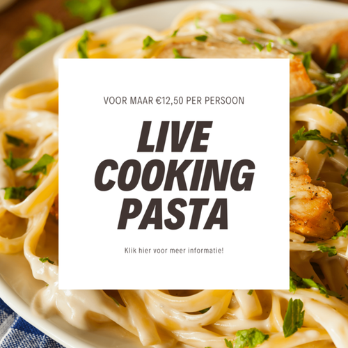 Live cooking pasta buffet